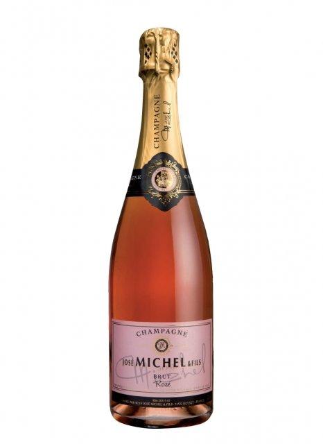 champagne jos michel brut ros bouteille 75cl plus de bulles. Black Bedroom Furniture Sets. Home Design Ideas