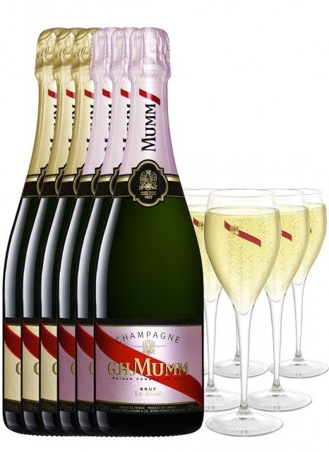 Mumm Coffret Duo + 6 flûtes offertes Non vintage Bottle 75cl Nu