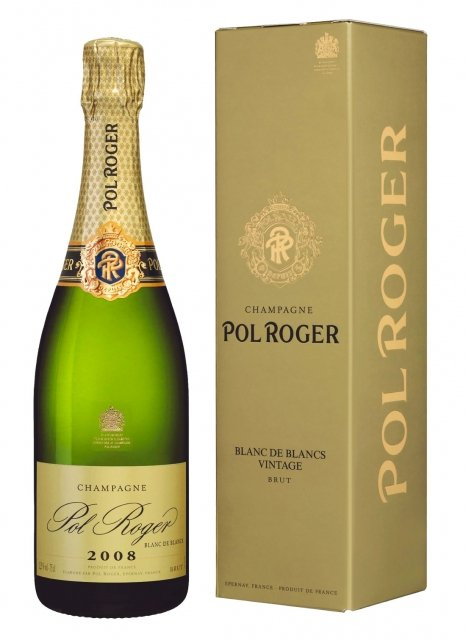 Pol Roger Chardonnay Vintage 2008 2008 Bottle 75cl Box