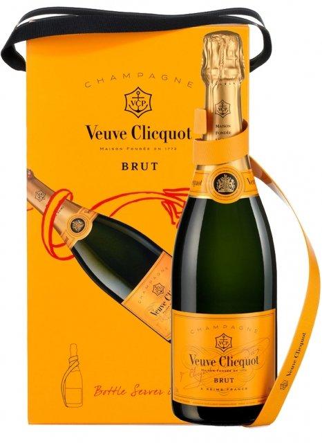 Veuve Clicquot Ribbon Bottle Server Non millésimé Bouteille 75CL Coffret
