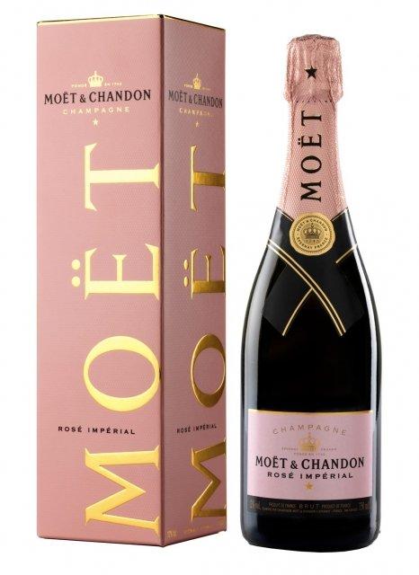 champagne mo t chandon ros imp rial bouteille 75cl plus de bulles. Black Bedroom Furniture Sets. Home Design Ideas