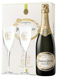 Perrier-Jouët Grand Brut Non millésimé Bouteille 75CL bouteille + flûtes