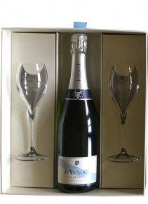 De Venoge Cordon Bleu Non millésimé Bouteille 75CL bouteille + flûtes