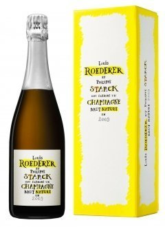 Roederer Brut Nature 2009 by Starck 2009 Bottle 75cl Presentation pack