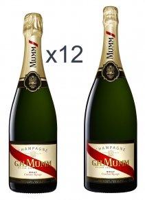 Mumm 12 bouteilles de Cordon Rouge + 1 magnum Non millésimé Bouteille 75CL Nu
