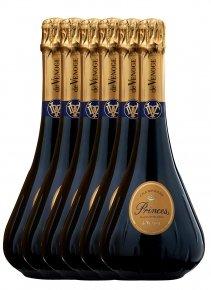 De Venoge 6 Princes Blanc de Blancs + 6 flûtes Non millésimé Bouteille 75CL bouteille + flûtes