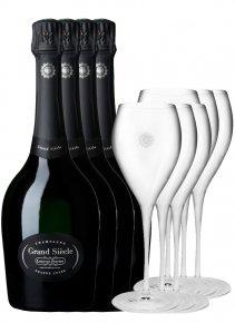 Laurent-Perrier 4 Grand Siècle + 6 flûtes Non millésimé Bouteille 75CL bouteille + flûtes