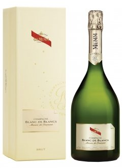 Mumm Blanc de Blancs Non vintage Bottle 75cl Presentation pack