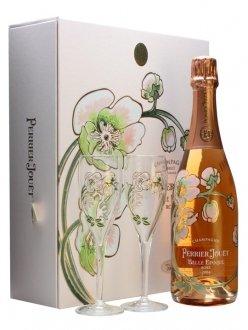 Perrier-Jouët Belle Epoque Rosé 2004 2004 Bouteille 75CL bouteille + flûtes