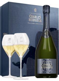 Charles Heidsieck Coffret Dandy Non millésimé Bouteille 75CL bouteille + flûtes